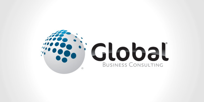 Global business consulting logo for Global design consultancy